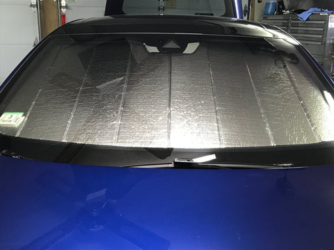 Tesla Model S sunshade reflector front