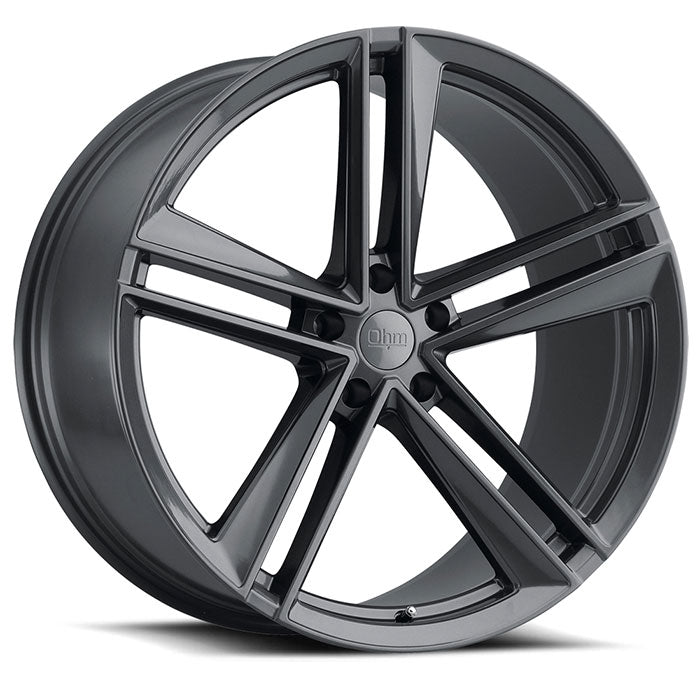 "TSW Ohm Lightning 20"" Staggered Wheel/Tire set for Model 3TSWEV Tuning"