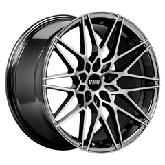 "VMR V801 Tesla Model 3 18"" Staggered Wheel/Tire Set Mercury Black"