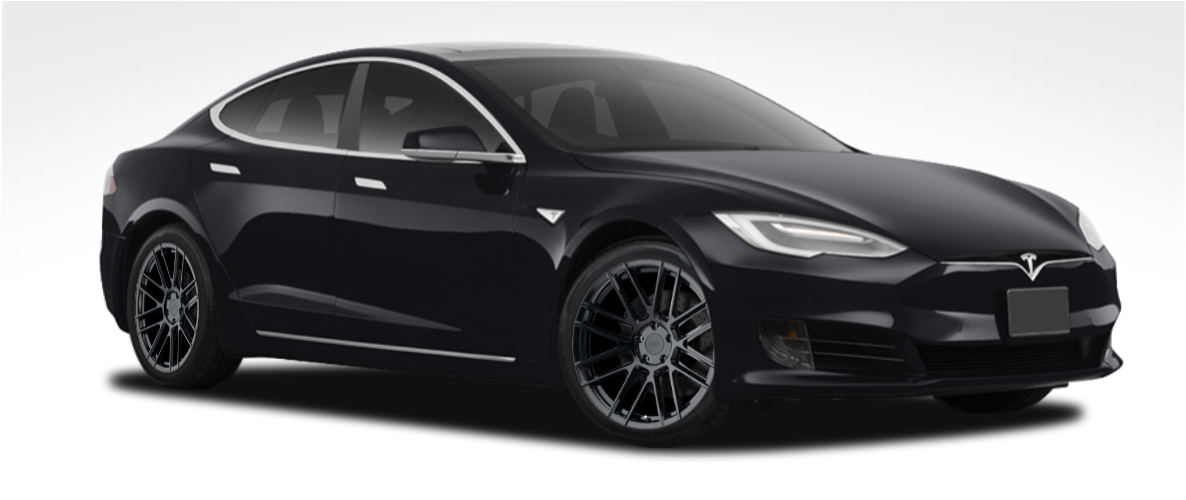 "Tesla Model S 19"" Winter Wheel and Tire Packages TSW Mosport Installed"