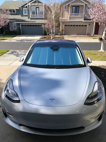Tesla Model 3 custom UV sunshade