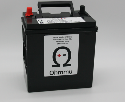 Ohmmu 12v Lithium Battery for Tesla Model 3/YOhmmuEV Tuning