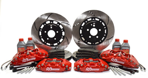 RB Performance 2-Piece 380x32mm Front / 365x28mm Rear Rotor Upgraded BBK for Tesla Model S/XRB Performance BrakesEV Tuning