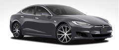 "Tesla Model S 19"" Winter Wheel and Tire Packages TSW Rouge Installed"