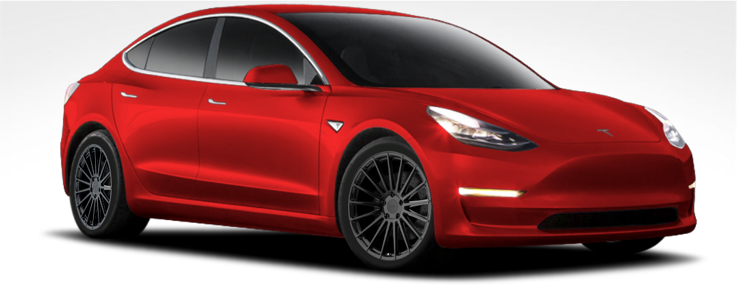 "TSW Luco 18"" Staggered Wheel/Tire Set Tesla Model 3TSWEV Tuning"
