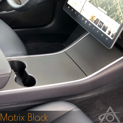 Tesla Model 3/Y Center Console Vinyl WrapsAbstract OceanEV Tuning