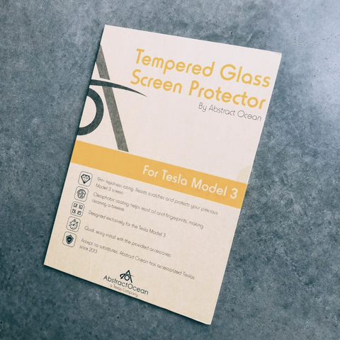 Tempered Glass (9H) Screen Protector for Model 3/YAbstract OceanEV Tuning