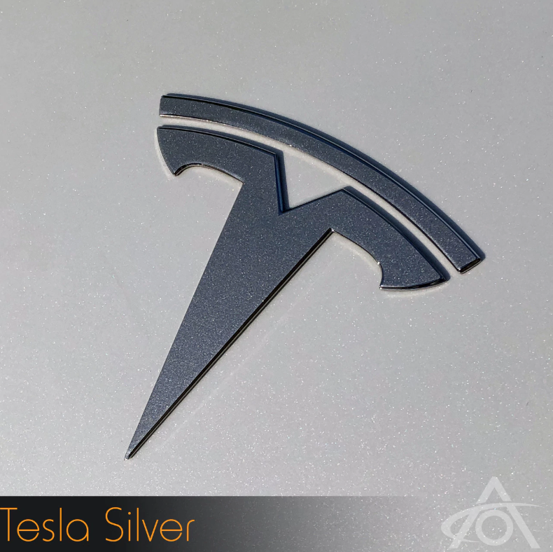 Tesla Model 3 Logo Decals (Rear)Abstract OceanEV Tuning