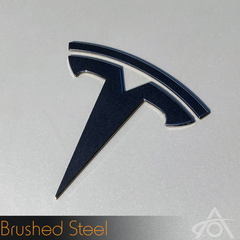 Tesla Model 3 Logo Decals (Front)Abstract OceanEV Tuning