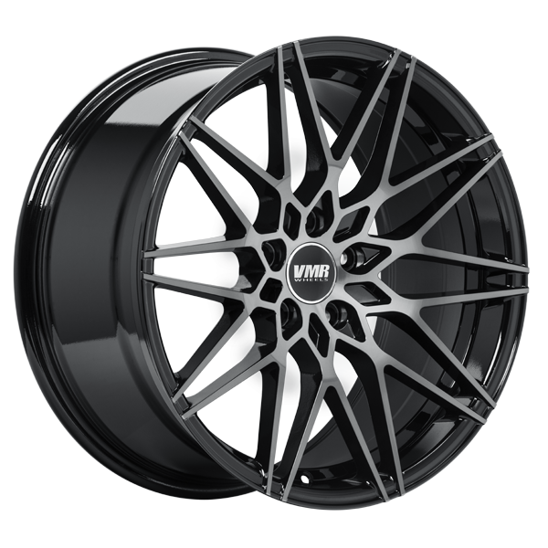 "VMR V801 Tesla Model 3 18"" Staggered Wheel/Tire Set Titanium Black"