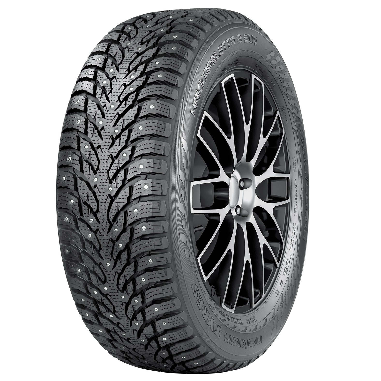 245/45R19 Nokian Hakkapeliitta 9 Studded Tires 102T XL for Tesla Model SNokianEV Tuning