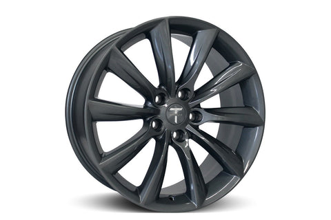 "19"" TST Turbine Style Wheel Set of 4 - Tesla Model S Metallic Grey"