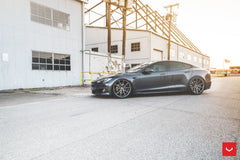 "19""/20""/21""/22"" Vossen VFS-1 Flow Formed Wheels for Tesla Model S Graphite Installed"
