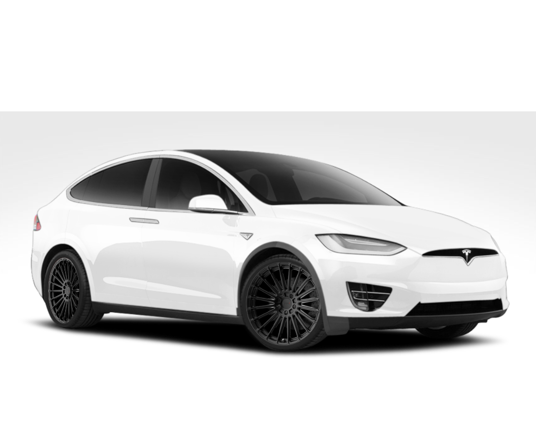 "TSW Turbina 22"" Wheel/Tire Staggered Set for Tesla Model XTSWEV Tuning"
