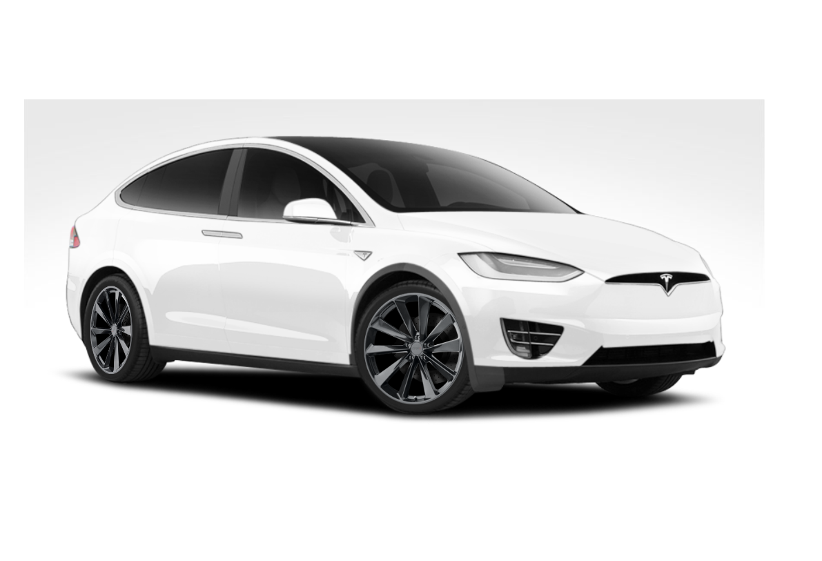 "TSW Aileron 20""/21""/22"" Wheels for Tesla Model X Installed"