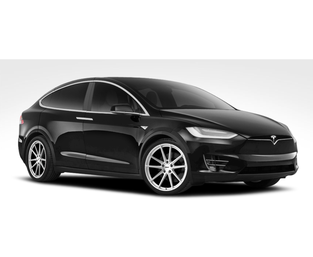 "TSW Bathurst 21"" Wheel/Tire Staggered Set for Tesla Model XTSWEV Tuning"