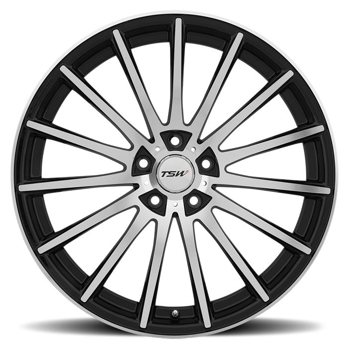 "TSW Chicane 18"" Staggered Wheel/Tire Set Tesla Model 3"