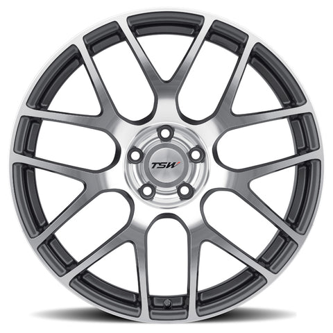 "TSW Nurburgring 18"" Staggered Wheel/Tire Set Tesla Model 3TSWEV Tuning"