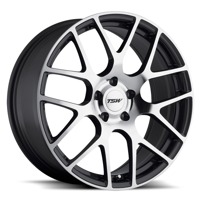 "TSW Nurburgring 20"" Staggered Wheel/Tire Set Tesla Model 3TSWEV Tuning"