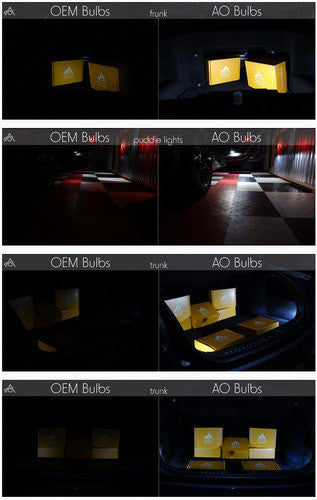 Tesla LED Interior Lights Bulbs colors