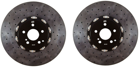 RB-CCB Kit (390x34mm) Carbon Ceramic Front Rotors w/ 6 Pot Calipers for Tesla Model 3RB Performance BrakesEV Tuning