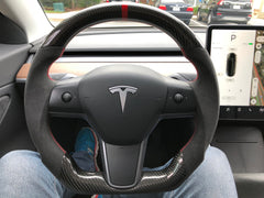 Tesla Model 3/Y Custom Carbon Fiber Steering WheelEV TuningEV Tuning