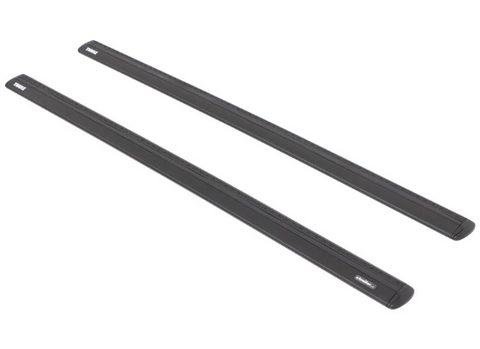 Tesla Model S Thule Rapid Podium Aero Bar Roof Rack Kit - Black