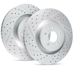 GEOMET® Series Brake Cross-Drilled / Slotted Rotors for BMW i3