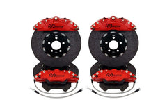 Tesla Model S/X 2 Piece Carbon Ceramic 390MM Front/360MM Rear Rotor Upgrade w/ Calipers, Pads and Stainless Brake lines