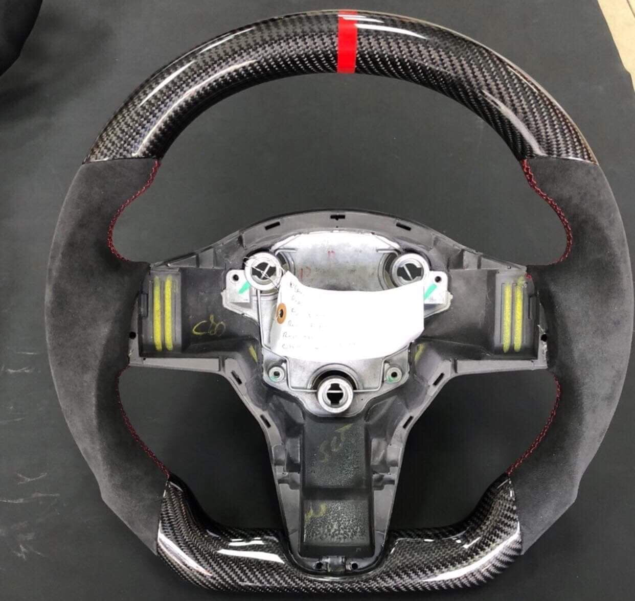 Tesla Model 3 Custom Carbon Fiber Steering WheelEV TuningEV Tuning