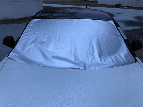 Tesla Model 3 snow shade