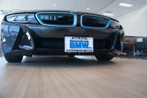 BMW i8 sto-n-show license plate bracket