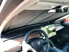 Tesla Model 3 custom UV sunshade interior