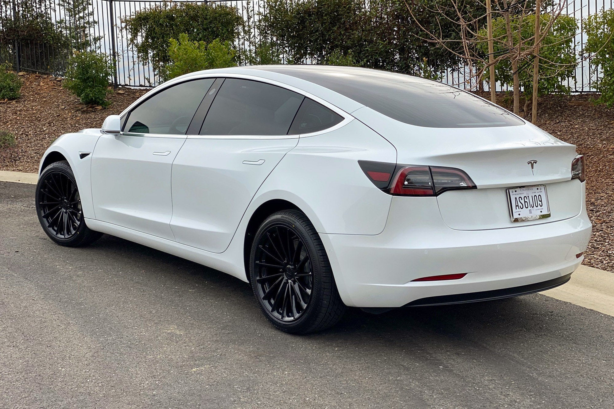 "TSW Ohm Proton 20"" Staggered Wheel/Tire set for Model 3TSWEV Tuning"