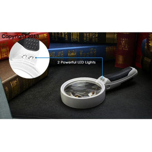 10 Times Magnifying Glass Hand Magnifier With Backlight LED Lights - the-cavy-closet