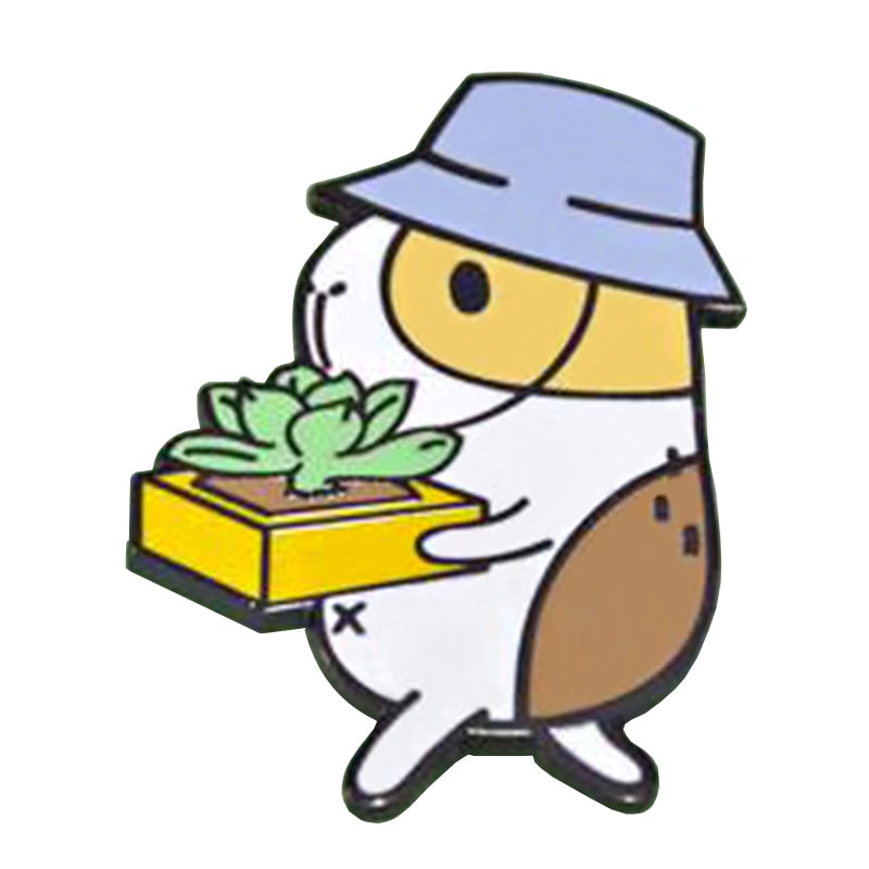 Gardening Pocket Pig Pin