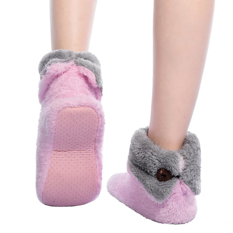 Plush Coral Fleece, Soft bottom slippers - the-cavy-closet