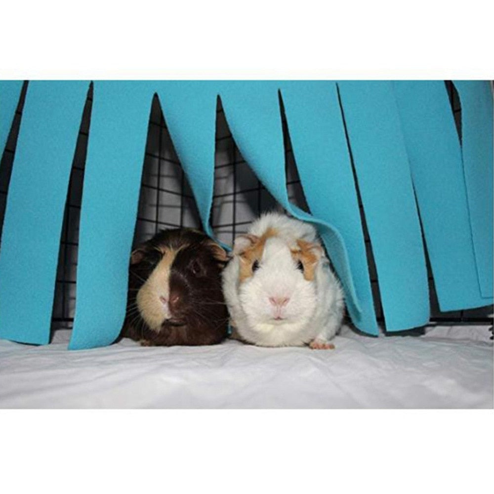 Corner Curtain Hideaway For Guinea Pigs - the-cavy-closet