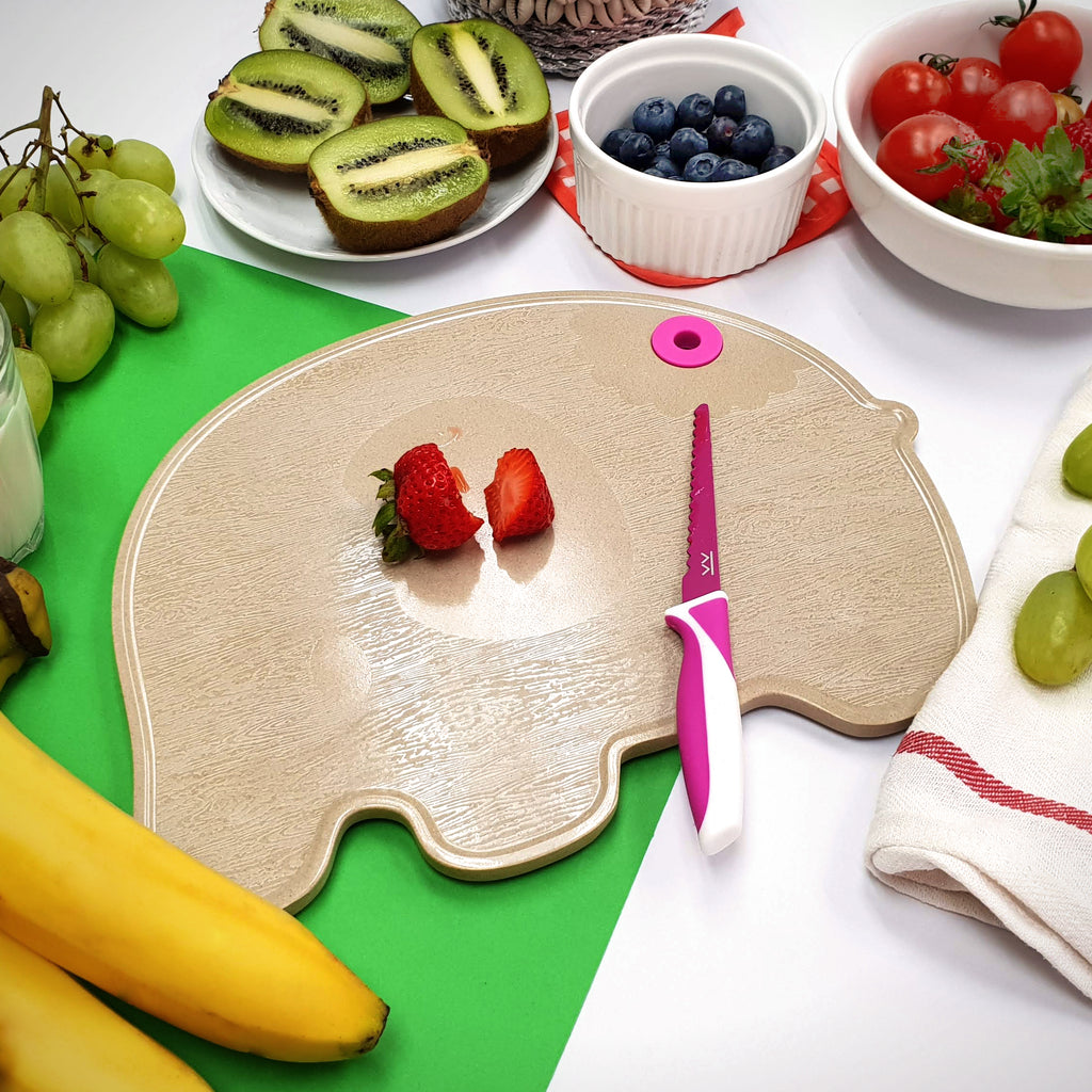 Bundle: Kiddikutter + Huskware Cutting Board for kids