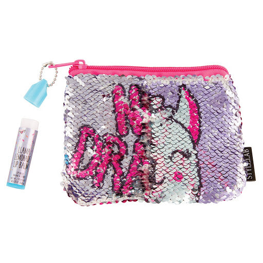 Magic Flip Sequin Pouch and Lip Balm set