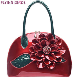 FLYING BIRDS! Women Flower Design Top Handle Evening Bag Purse