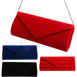 Velvet Evening Handbag Clutch Purse