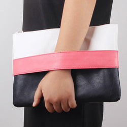 Women Candy Color  Leather  Day Clutch Purse