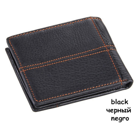 COWATHER 100% Top Quality Genuine Cow Leather Men Wallet