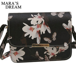 Women Retro Floral leather Shoulder Bag Purse