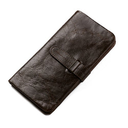 New Vintage Genuine leather Men's Clutch Long Bifold Wallet