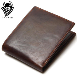 TAUREN 100% Top Quality Natural Genuine Leather Men Wallet