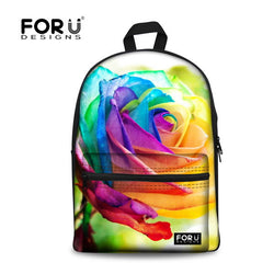 FORUDESIGNS 3D Flower Print Kids Backpack