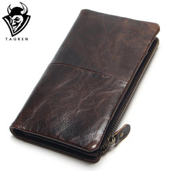 Tauren 2017 New Oil Wax Retro Long Leather Wallet