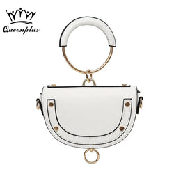 Original Design 2017 New Metal Handle Semi-Circular Handbag Purse